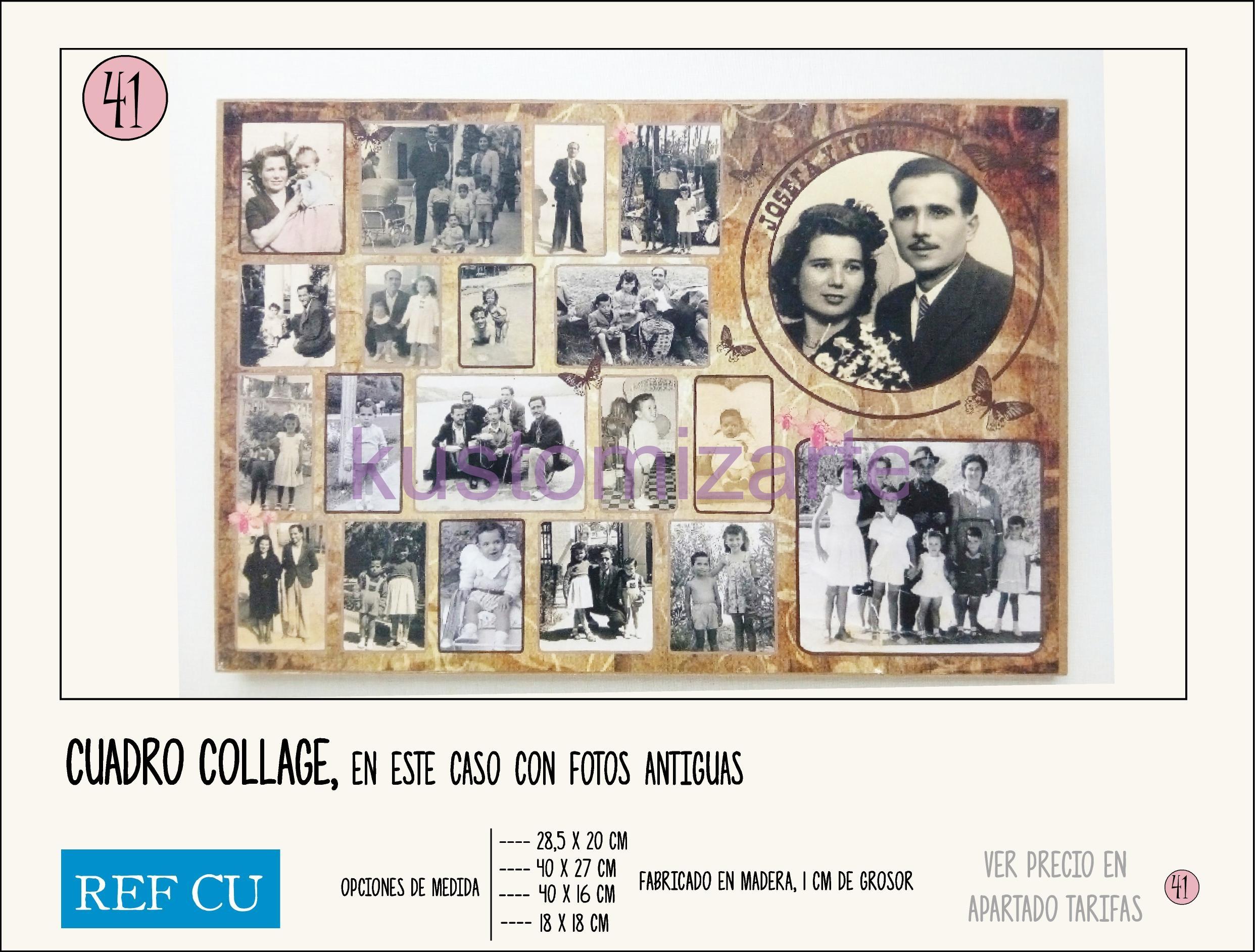 Cuadro collage fotos perfect de acuerdo a la siguiente for Collage de cuadros